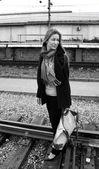 旅行の女の子 — ストック写真