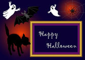Halloween photo frame. vector. — Vector de stock