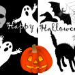 Halloween set icons. vector. — Stock Vector