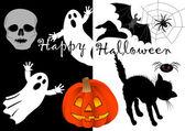 Halloween set icons. vector. — Stock Vector