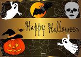 Halloween banner. vector. — Stock Vector