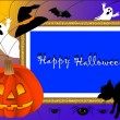 Stock Vector: Halloween photo frame. vector.