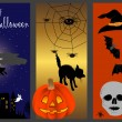 Halloween banners. vector illustration. — Image vectorielle