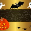 Halloween background. vector. — Stock Vector