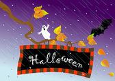 Halloween skylt. vektor. — Stockvektor