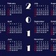 Classic calendar template for 2011. vector. — Stock Vector