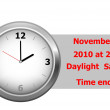Daylight saving time ends. vector. — Stock Vector #4156607