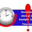Vector de stock : Daylight saving time ends. vector.