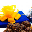 Gift and chocolate candies. — Stock Photo