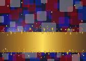 Gold banner. — Stock Vector