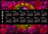 Calendar for 2011. american style. vector 10eps. — Stock Vector