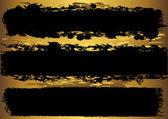 Banner grunge set. vector. — Vector de stock