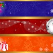 Royalty-Free Stock Vektorfiler: Christmas banners. vector.