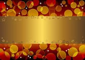 Gold banner. vector 10eps. — Stock Vector