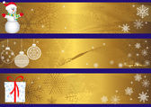 Christmas banners. vector. — ストックベクタ