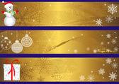 Kerstmis banners. vector. — Stockvector