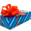 Gift. clipping path. — Stock Photo