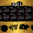 Calendar for year 2011. vector. — Stock vektor