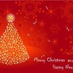 Christmas tree. vector 10eps. — Stock Vector