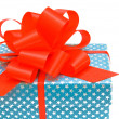 Gift with red bow. — Foto Stock