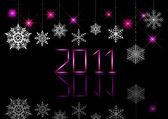 Nieuw jaar 2011. eps10. — Stockvector