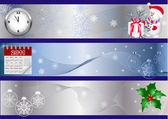 New year banners. vector. — Stock Vector