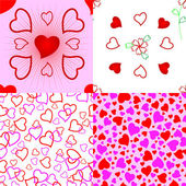 Heart seamless pattern. — Stock Vector