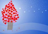 Stylized love tree. — Stock Vector