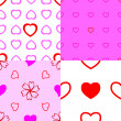 Heart seamless pattern. — 图库矢量图片