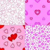 Seamless valentine pattern. — Stock Vector