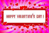 Valentine's Day . vector. — Stock Vector