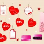 情人节的礼物购物新概念 — 图库矢量图片 #4678124