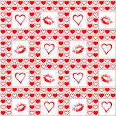 Valentine bezešvé vzor. — Stock vektor
