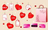 Koncepcja zakupy dla zakochanych — Wektor stockowy