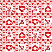 Alla hjärtans seamless mönster. — Stockvektor