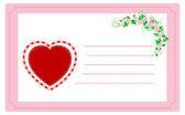 Valentine card. — Vetorial Stock