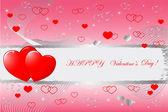 バレンタインの日。ベクトル. — ストックベクタ