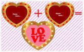 Valentine framework. — 图库矢量图片