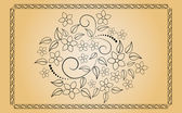 Floral ornament. — Stock Vector