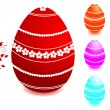 Set of Easter eggs. — Imagen vectorial