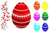 Paskalya yumurtaları kümesi. — Stok Vektör