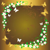 Grunge floral background. — Stock Vector