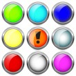 Set buttons. — Stock Vector
