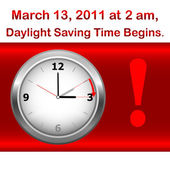 Daylight saving time begins. — Stockvektor