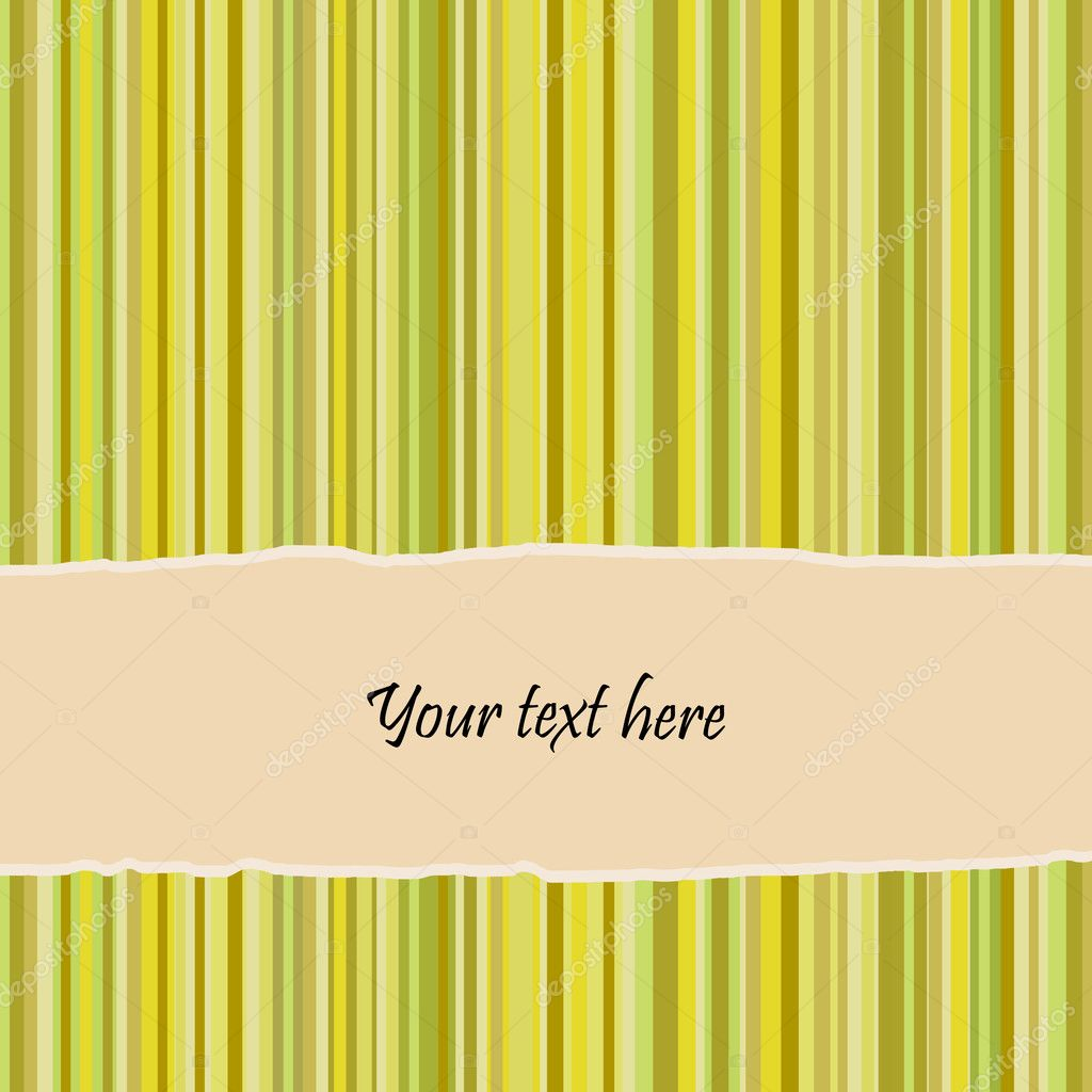 Retro striped background and banner with place for text. Vector. — Stock Vector #5068026
