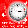 ストックベクタ: Daylight saving time begins.