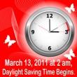 Daylight saving time begins. — 图库矢量图片 #5106085