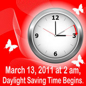 Daylight saving time begins. — Vettoriale Stock