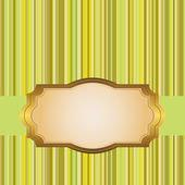 Golden frame. — Stockvector