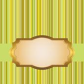 Gyllene ram. — Stockvektor